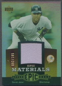 2006 Upper Deck Epic #DJ1 Derek Jeter Materials Red Jersey #092/185