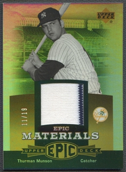 2006 Upper Deck Epic #TH1 Thurman Munson Materials Gold Jersey #11/19