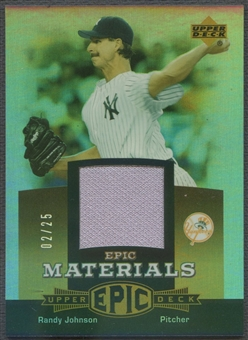 2006 Upper Deck Epic #RJ1 Randy Johnson Materials Gold Jersey #02/25