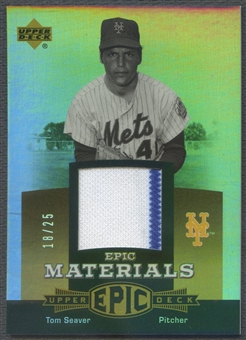 2006 Upper Deck Epic #TS Tom Seaver Materials Gold Jersey #18/25