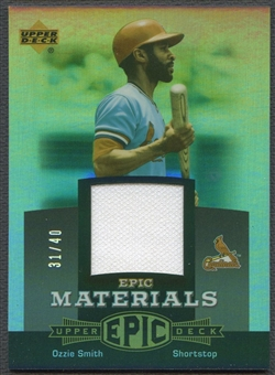 2006 Upper Deck Epic #OS2 Ozzie Smith Materials Grey Jersey #31/40