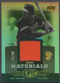 2006 Upper Deck Epic #WM3 Willie McCovey Materials Grey Jersey #12/40