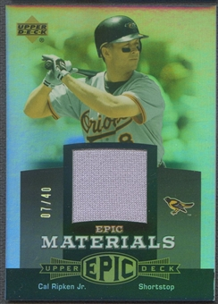 2006 Upper Deck Epic #CR2 Cal Ripken Materials Grey Jersey #07/40