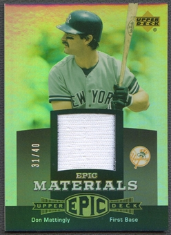 2006 Upper Deck Epic #DM2 Don Mattingly Materials Grey Jersey #31/40