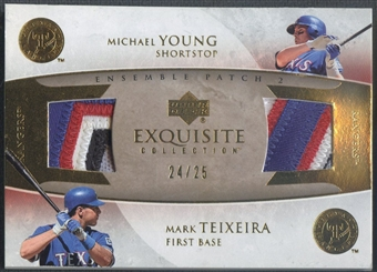 2006 Exquisite Collection #YT Mark Teixeira & Michael Young Ensemble Dual Patch #24/25