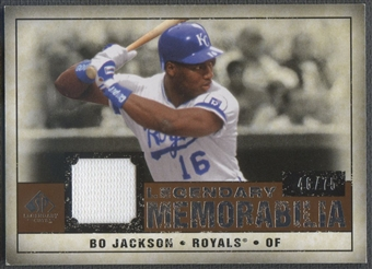 2008 SP Legendary Cuts #BJ Bo Jackson Legendary Memorabilia Jersey #46/75