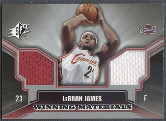 2005/06 SPx #LJ LeBron James Winning Materials Jersey