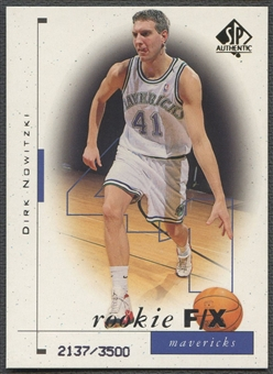 1998/99 SP Authentic #99 Dirk Nowitzki Rookie #2137/3500