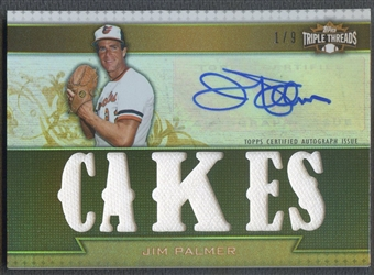 2011 Topps Triple Threads #TTAR143 Jim Palmer Relic Gold Jersey Auto #1/9