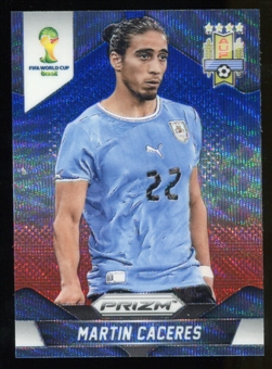 2014 Panini Prizm World Cup Prizms Blue and Red Wave #190 Martin Caceres