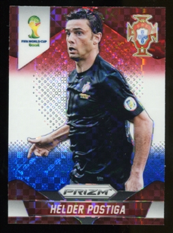 2014 Panini Prizm World Cup Prizms Red White and Blue #160 Helder Postiga