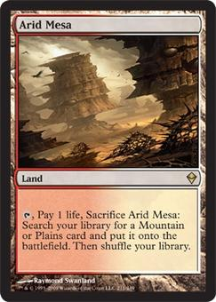 Magic the Gathering Zendikar Single Arid Mesa FOIL - SLIGHT PLAY (SP)