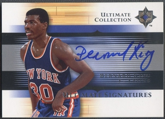 2005/06 Ultimate Collection #USBK Bernard King Signatures Auto