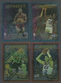 1995/96 Topps Finest Basketball Dish And Swish Complete Set