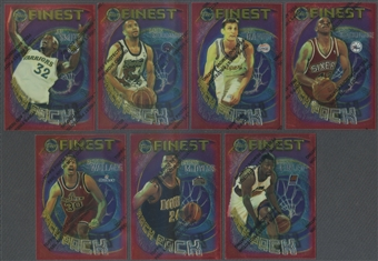 1995/96 Topps Finest Basketball Rack Pack Complete Set