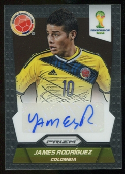 2014 Panini Prizm World Cup Signatures #SJR James Rodriguez Autograph