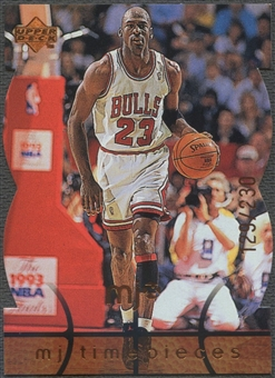 1998 Upper Deck MJx #66 Michael Jordan Timepieces Bronze #129/230