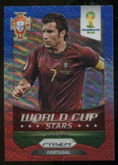 2014 Panini Prizm World Cup World Cup Stars Prizms Blue and Red Wave #49 Luis Figo