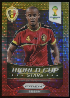 2014 Panini Prizm World Cup World Cup Stars Prizms Yellow Red Pulsar #4 Vincent Kompany