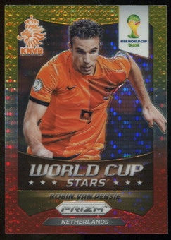 2014 Panini Prizm World Cup World Cup Stars Prizms Yellow Red Pulsar #21 Robin van Persie