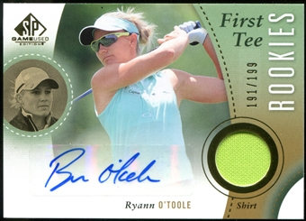 2014 Upper Deck SP Game Used #53 Ryann O'Toole RC Shirt Autograph 191/199