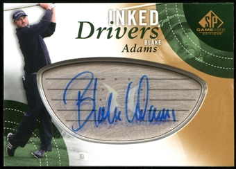 2014 Upper Deck SP Game Used Inked Drivers #IDBA Blake Adams D Autograph