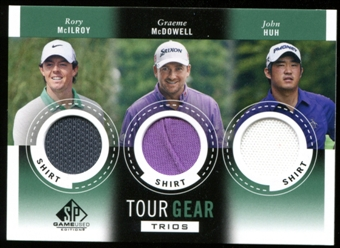 2014 Upper Deck SP Game Used Tour Gear Triple #TG3MMH Rory McIlroy Graeme McDowell John Huh B