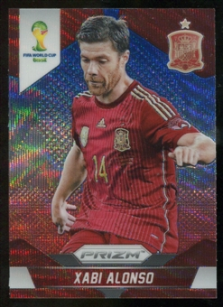 2014 Panini Prizm World Cup Prizms Blue and Red Wave #173 Xabi Alonso