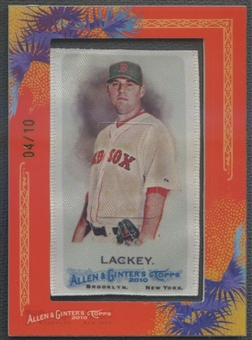2010 Topps Allen and Ginter #35 John Lackey Mini Silk #04/10