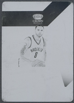 2012/13 National Treasures #32 Deron Williams Crown Royale Printing Plate #1/1