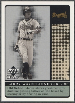 1999 Upper Deck Retro #S5 Chipper Jones Old School/New School Level 2 #08/50