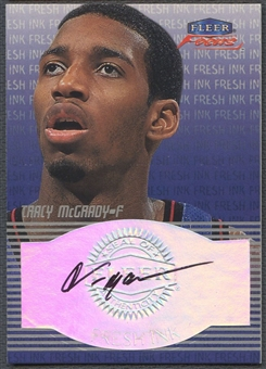 1999/00 Fleer Focus #16 Tracy McGrady Fresh Ink Auto