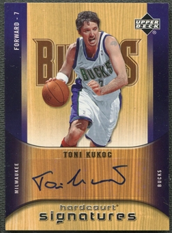 2005/06 Upper Deck Hardcourt #TK Toni Kukoc Signatures Auto