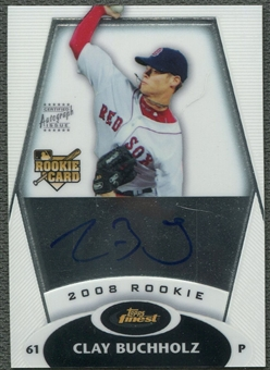 2008 Finest #160 Clay Buchholz Rookie Auto