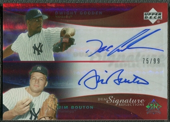 2005 Reflections #DGJB Dwight Gooden & Jim Bouton Dual Signatures Red Auto #75/99