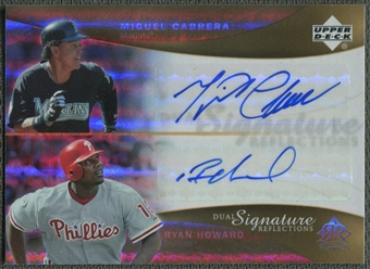 2005 Reflections #MCRH Miguel Cabrera & Ryan Howard Dual Signatures Auto
