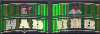 2010 Topps Triple Threads #RDC14 Frank Robinson Relic Combos Double Emerald Bat Jersey #15/18