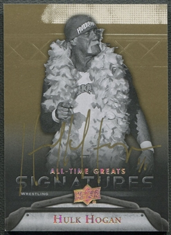 2012 Upper Deck All-Time Greats #GAHH4 Hulk Hogan Signatures Gold Auto #1/1