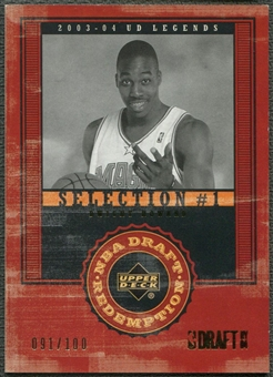 2003/04 Upper Deck Legends #136 Dwight Howard Throwback Rookie #091/100