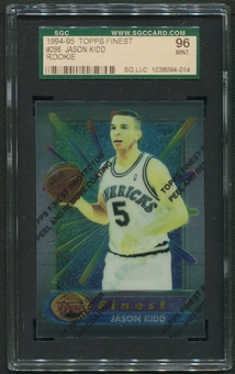 1994/95 Finest Basketball #286 Jason Kidd Rookie SGC 96 (MINT) *4014