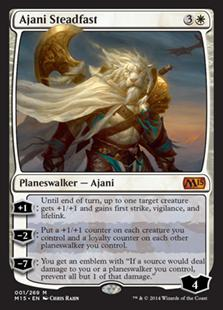 Magic the Gathering Magic 2015 Core Set Single Ajani Steadfast Foil NEAR MINT (NM)