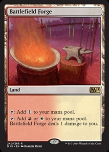 Magic the Gathering Magic 2015 Core Set Single Battlefield Forge NEAR MINT (NM)