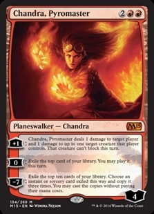 Magic the Gathering Magic 2015 Core Set Single Chandra, Pyromaster Foil NEAR MINT (NM)