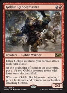 Magic the Gathering Magic 2015 Core Set Single Goblin Rabblemaster Foil NEAR MINT (NM)