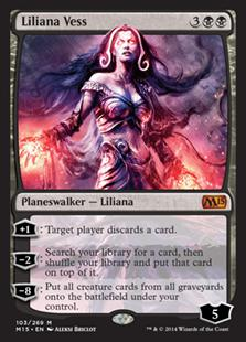 Magic the Gathering Magic 2015 Core Set Single Liliana Vess Foil NEAR MINT (NM)