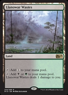 Magic the Gathering Magic 2015 Core Set Single Llanowar Wastes Foil NEAR MINT (NM)