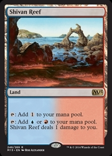 Magic the Gathering Magic 2015 Core Set Single Shivan Reef Foil NEAR MINT (NM)