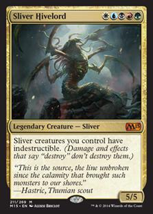 Magic the Gathering Magic 2015 Core Set Single Sliver Hivelord Foil NEAR MINT (NM)