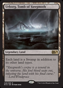 Magic the Gathering Magic 2015 Core Set Single Urborg, Tomb of Yawgmoth NEAR MINT (NM)