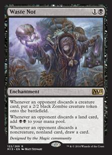 Magic the Gathering Magic 2015 Core Set Single Waste Not Foil NEAR MINT (NM)